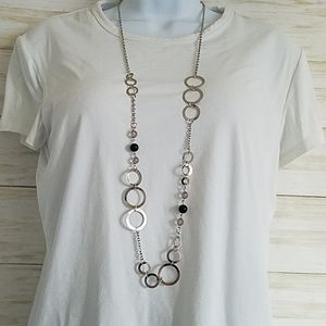Paparazzi Silver Circle Necklace and Earrings